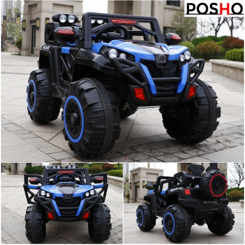 Posho Blue 4x4 (4WD) Kids Ride on Jeep with Remote