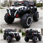 Posho White 4x4 (4WD) Kids Ride on Jeep with Remote