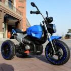 Blue 12V Retro 2 Motor Kids Ride on Motorbike for 3 to 8 Years
