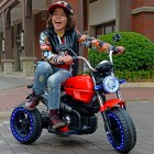 Red 12V Retro 2 Motor Kids Ride on Motorbike for 3 to 8 Years