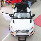 White 12V Lane Rover 2 Seater Kids Ride on Car