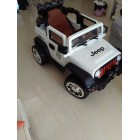 White 12V  Wrangler Jeep  Style Ride On Car for Kids  New Style- 4 Motor
