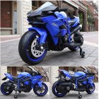 HK-H2R Blue 12V Kids Ride on Ninja Motorcycle with Hand Race
