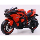 HK-H2R Red 12V Kids Ride on Ninja Motorcycle with Hand Race