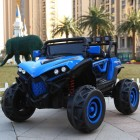 Blue 2 Seater  4X4 Monster Buggy Kids Ride on Car with Parental Remote