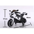 FT-8798 Small White 6v Kids Ride on Motorcycle With Light and Mp3