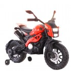 DLS01 Red 12V Kids Ride on Dirt Motorcycle with Hand Race