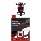 DLS07 Red 12V Kids Ride on Sport Motorcycle with Hand Race