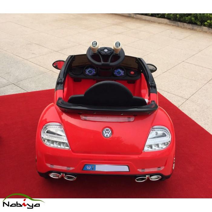 red  small vw beetle style kids ride  car nabiya ride  toys