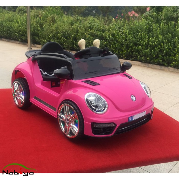 Electric Motor Kit For Volkswagen Beetle: Pink 12V Small VW Beetle Style Kids Ride On Car