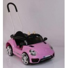 Pink 12V Small VW Beetle Style Kids Ride on Car