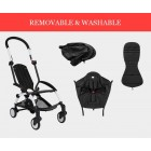 Black Compact Lightweight Baby Stroller Pram Easy Fold Travel Carry on Plane